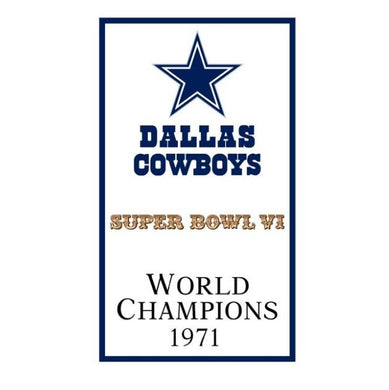 Dallas Cowboys World Champions 1971 FLAG 90x150cm