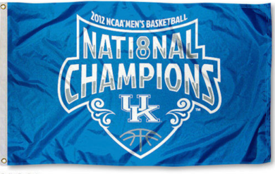 Kentucky Wildcats 2012 Men Basketball Champions Banner Flag 3*5ft