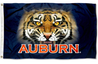 Auburn Tigers Tiger Eyes Banner Flag 3*5ft