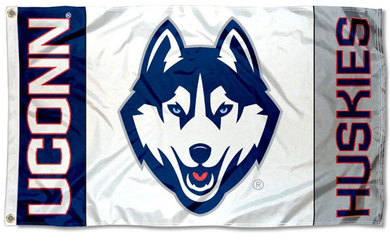 Connecticut Huskies White College Flag 3*5ft