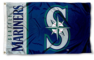 Seattle Mariners Logo Banner flag 3ftx5ft