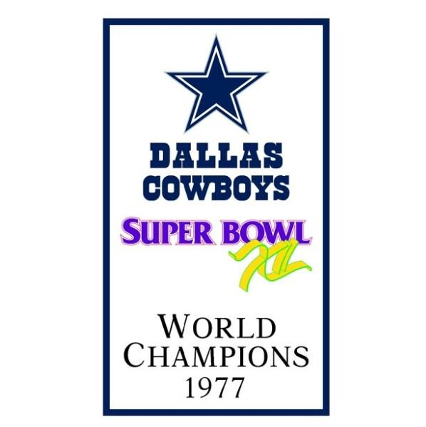 Dallas Cowboys World Champions 1977 FLAG 90x150cm