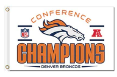 Denver Broncos Conferencs Champions flag Banner 3x5ft