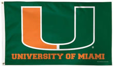 Load image into Gallery viewer, University of Miami Flag 3*5ft