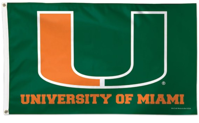 University of Miami Flag 3*5ft