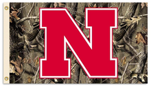 Load image into Gallery viewer, Nebraska Cornhuskers Camo Flag 90*150 CM