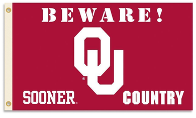 Oklahoma Sooners Beware Country Banner Flags 3*5ft