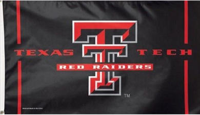 Texas Tech Red Raiders Black Banner Flag 3ft*5ft
