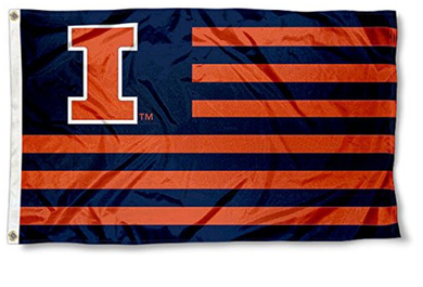 Illinois Fighting Illini Alumni Nation Stripes Flags Banners 3*5ft