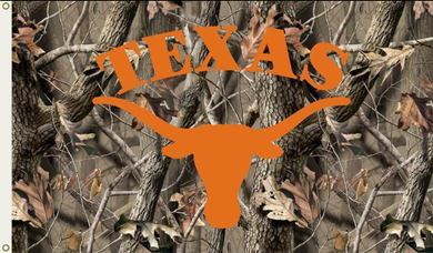 Texas Longhorns Camo RealTree Flag 3x5FT