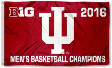 Indiana Hoosiers Big 10 Champions Banner Flag 3*5ft