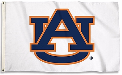 Auburn Tigers White Nation Banner Flag 3*5ft