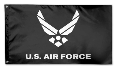 Air Force Falcons Black Banner Flag 3ftx5ft