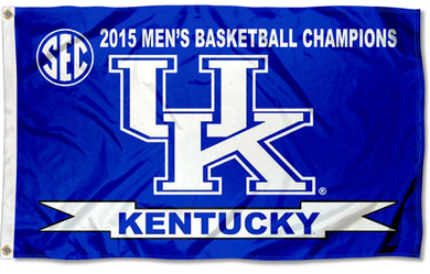 Kentucky Wildcats 2015 SEC Basketball Champions Banner Flag 3*5ft