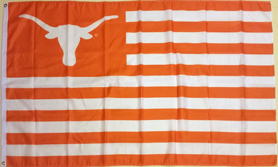 Texas Longhorns with Stripes Flag 3x5FT