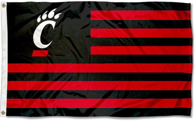 Cincinnati Bearcats Stars and Stripes Nation Banner Flag 3*5ft