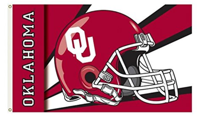 Oklahoma Sooners Team Helmet Banner Flags 3*5ft