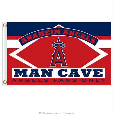 Los Angeles Angels Man Cave Flag 3x5ft