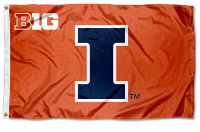 Illinois Fighting Illini Big 10 University Flags Banners 3*5ft