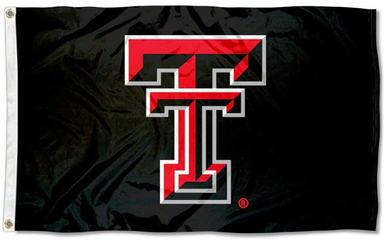 Texas Tech Red Raiders Sports Black Banner Flag 3ft*5ft