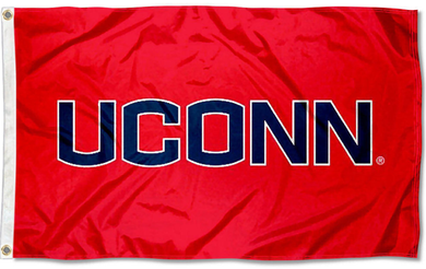 Connecticut Huskies Red Banner Flag 3*5ft
