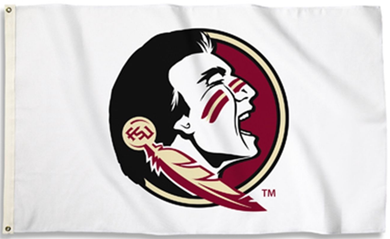 Florida State Seminoles White Banner Flag 3ft*5ft