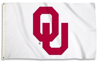 Oklahoma Sooners White Banner Flags 3*5ft