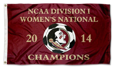 Florida State Seminoles 2014 Women's Soccer Champs Flag 3ft*5ft