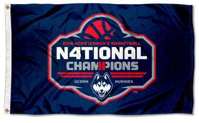 Connecticut Huskies 2016 Women's National Champions Flag 3*5ft