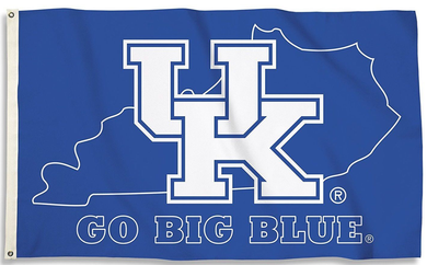 Kentucky Wildcats Go Big Blue Banner Flag 3*5ft