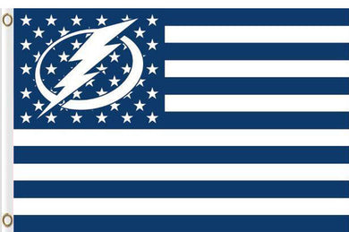 Tampa Bay Lightning logo star and stripes Flag 3ft x 5ft