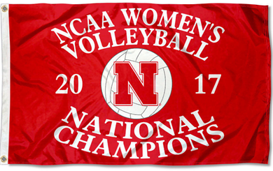 Nebraska Cornhuskers 2017 Women's Volleyball Champions Flag 90*150 CM