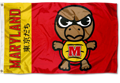 Maryland Terrapins Nation Kawaii Tokyodachi Mascot Banner Flag 3*5ft