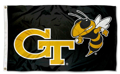 Georgia Tech Yellow Jackets Black College Flags 3*5ft