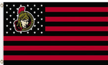 Load image into Gallery viewer, 3ft x 5ft Ottawa Senators star and stripes flag