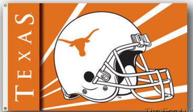Texas Longhorns Helmet Flag 3x5FT