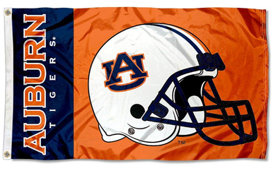 Auburn Tigers College Helmet Banner Flag 3*5ft