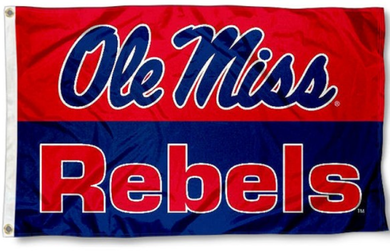 University Of Mississippi Rebels Banner Flag 90*150 CM
