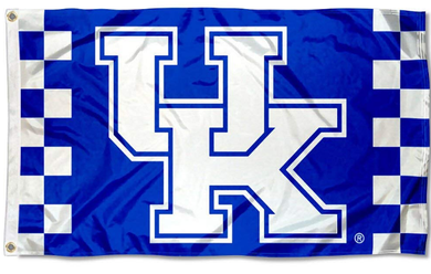 Kentucky Wildcats Checkered Board Banner Flag 3*5ft