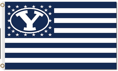 Brigham Young Cougars Star and Stripe Us Banner Flag 3*5ft