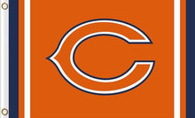 Load image into Gallery viewer, Chicago Bears Logo Two Strip Flag 3x5FT