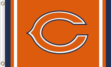 Chicago Bears Logo Two Strip Flag 3x5FT