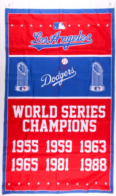 Los Angeles Dodgers Champions Banner flag 3ftx5ft