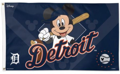 Detroit Tigers Mickey Mouse Banner flags 3ftx5ft