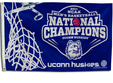 Connecticut Huskies 2011 National Champ Flag 3*5ft