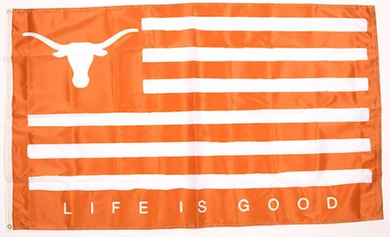 Texas Longhorns Life Is Good Banner Flag 3ftx5FT