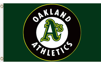 Oakland Athletics Polyester Banner flag 3ftx5ft