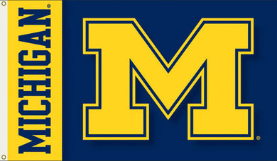 Michigan Wolverines Football Banner Flag 3x5ft