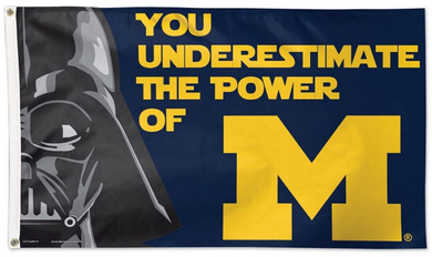 Michigan Wolverines Star Wars Banner Flag 3x5ft