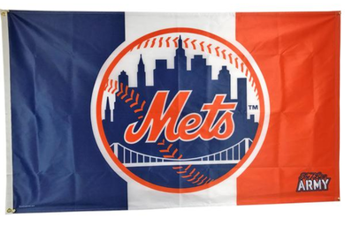 New York Mets 7 Line Army Banner flag 3ftx5ft